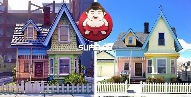 Rumah di Film Kartun Ini Dibangun di Dunia Nyata