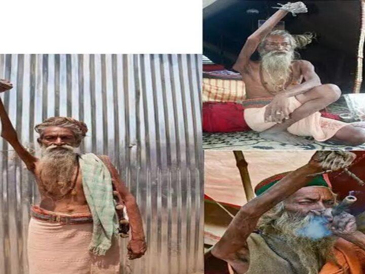 Shadu Amar Bharati Mengangkat Tangan Kanannya Selama 45 Tahun